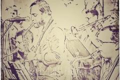 Paris 1890's Jazz Club Musicians by Harvey Tillis