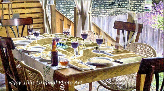 """""""Eileen's Table."""" Available as a 5x7 greeting card or in various print sizes suitable for framing."""