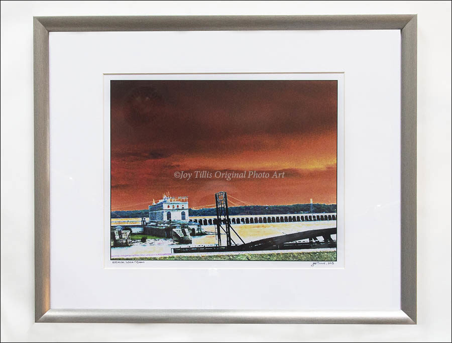 Keokuk Power Plant in Silver Wood Frame by Joy Tillis.